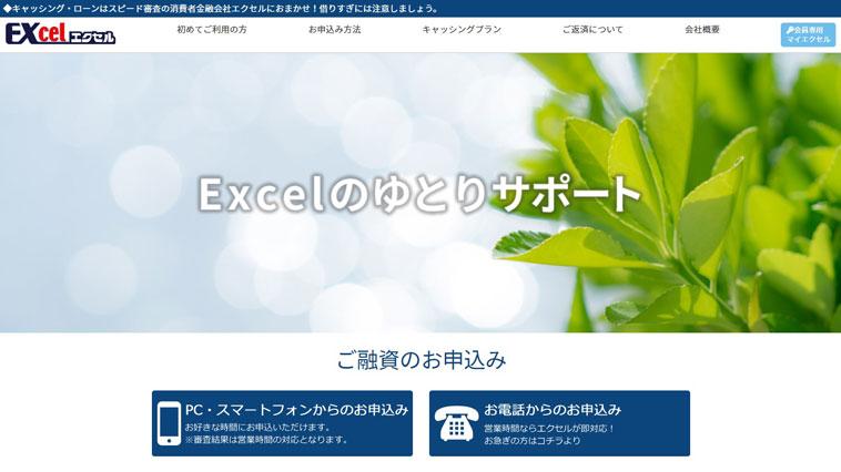 エクセルのウェブサイト画像