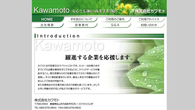 カワモトのウェブサイト画像