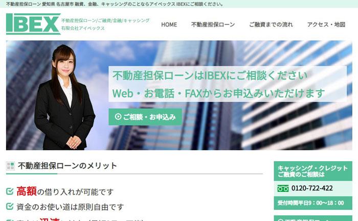アイベックスのウェブサイト画像